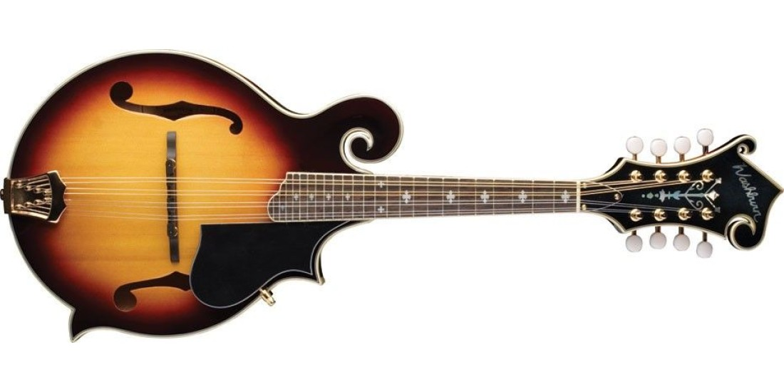 Open Box - Washburn M3SWK-D F-Style Mandolin Carved Solid Sitka Spruce Top with Flamed Maple Back and Sides