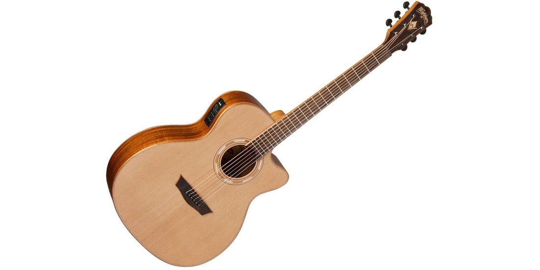Washburn WLG16SCE Woodline Solid Cedar Top Mahogany Back and Sides Grand Auditorium Acoustic Electric Guitar