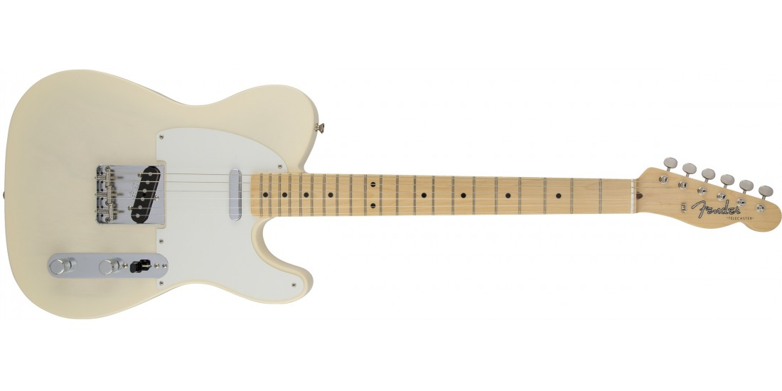 Fender American Vintage 58 Telecaster Electric Guitar Maple Fingerboard Aged White Blonde