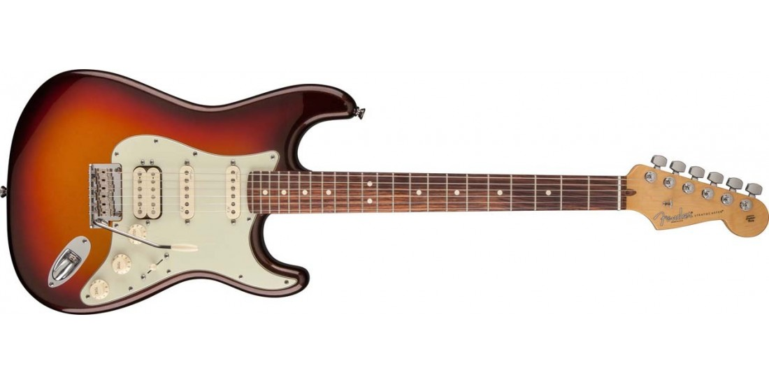 Fender USA American Deluxe Stratocaster Plus HSS RW Electric Guitar Mystic 3 Tone Burst B-Stock #1
