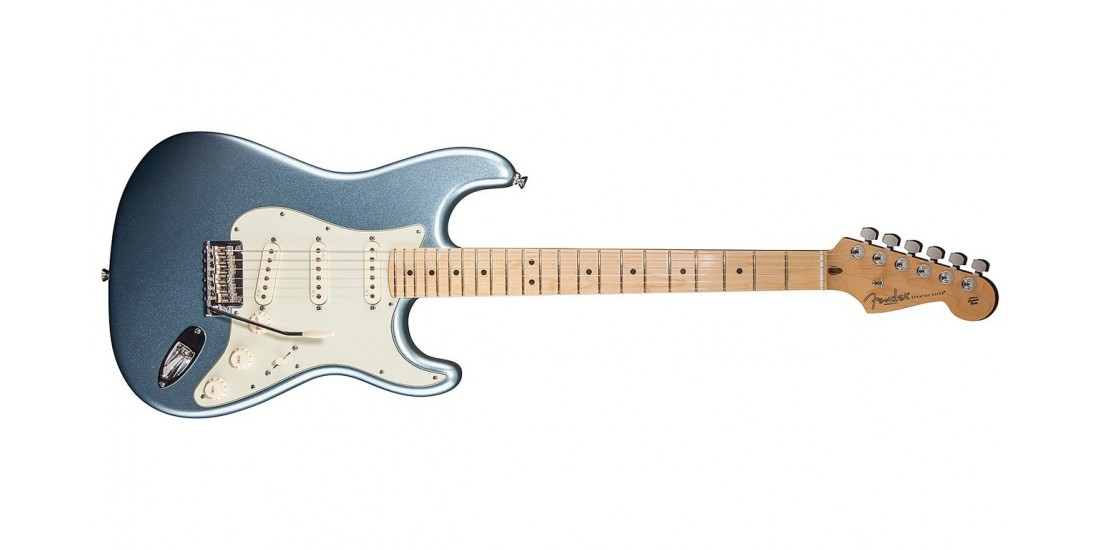 Fender American Deluxe Stratocaster Plus Electric Guitar Mystic Ice Blue