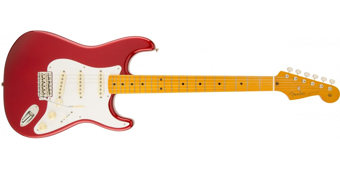 Fender 50s Stratocaster Nitrocellulose Laquer Finish Candy Apple Red with Maple Fingerboard