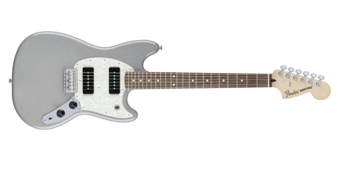 Fender Mustang 90 Electric Guitar in Silver