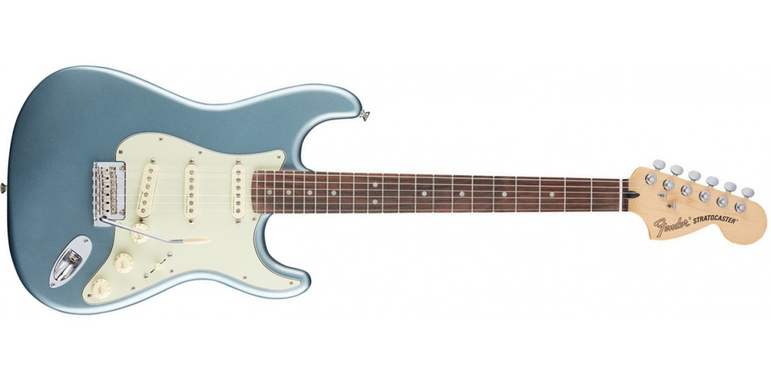 Fender  Deluxe  Roadhouse  Stratocaster  Rosewood  Fretboard  in  Mystic  Ice  Blue
