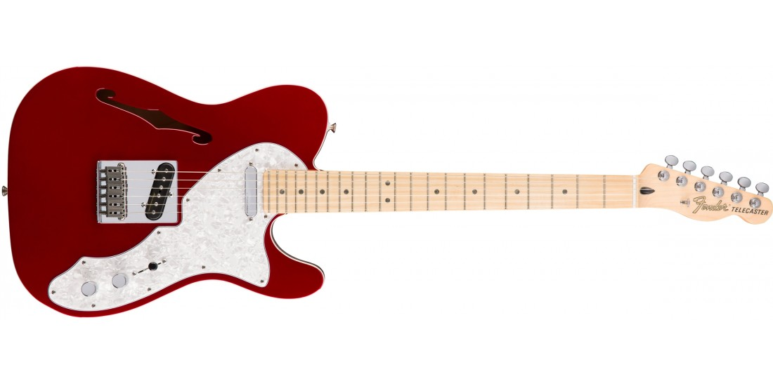 Fender  Deluxe  Telecaster  Thinline  Maple  Fingerboard  Candy  Apple  Red