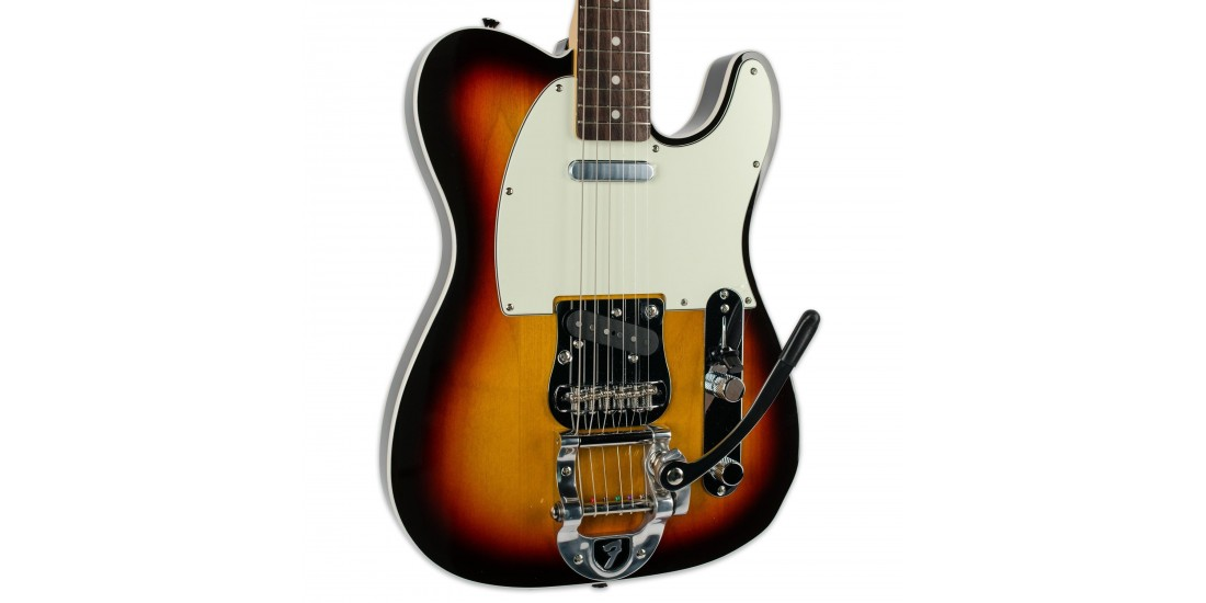 Fender 62 Telecaster Electric Guitar with Bigsby Tremolo Sunburst