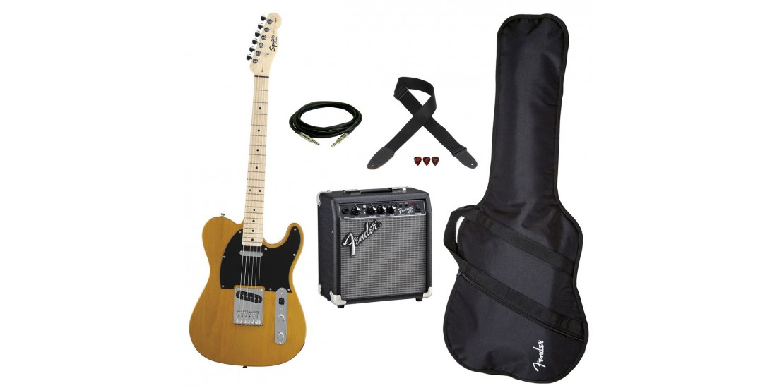 Fender Squier Affinity Telecaster guitar Package Butterscotch Blonde