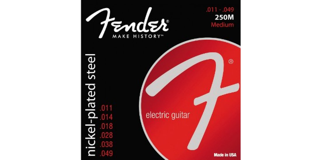 Fender 250 Nickel Plated Steel Electric Guitar Strings Medium (.011-.049)