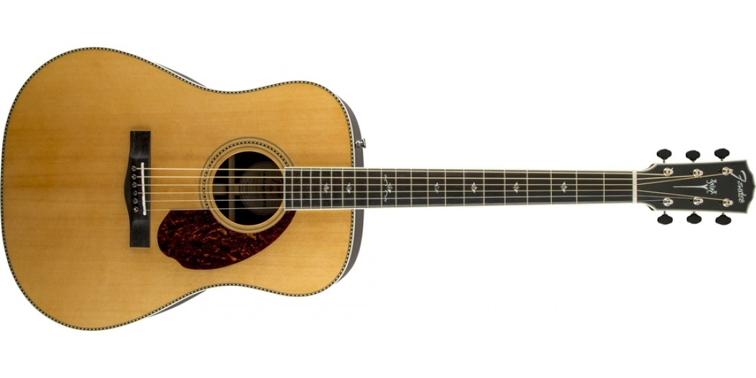 Fender PM-1 Deluxe Dreadnought Acoustic Guitar Natural Finish