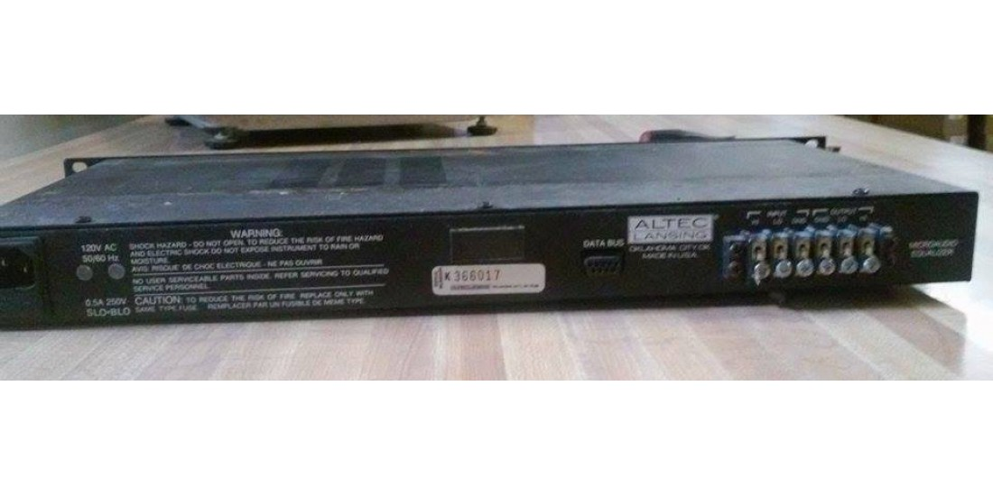 Used Altec Lansing 8551B 28 Band Single space Equalizer Eq Rack Unit