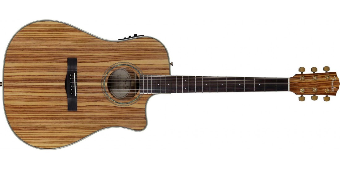 Fender CD-220CE Exotic Zebrano Electric Acoustic Guitar - B Stock