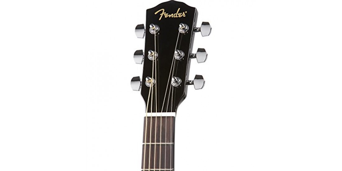 Fender DG60 Black Acoustic Guitar Spruce Top Mahogany Back and Sides