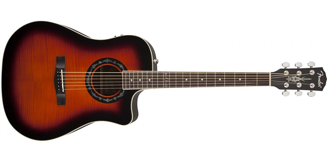 Fender T-Bucket Flamed Maple Top Acoustic Guitar 3 Tone Sunburst