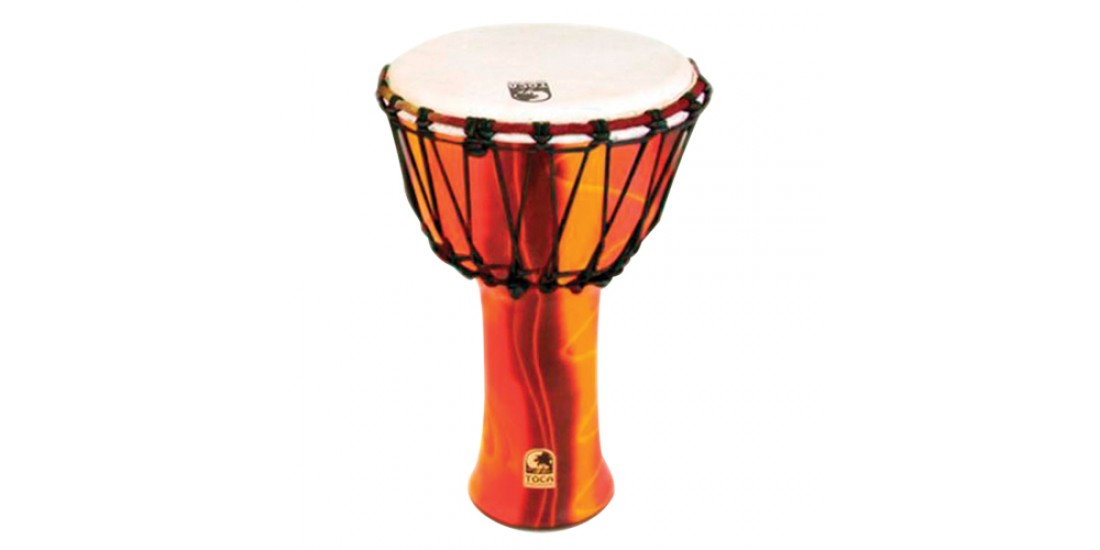 Toca Synergy Freestyle Djembe Rope Tuned 9 inch Head Fiesta