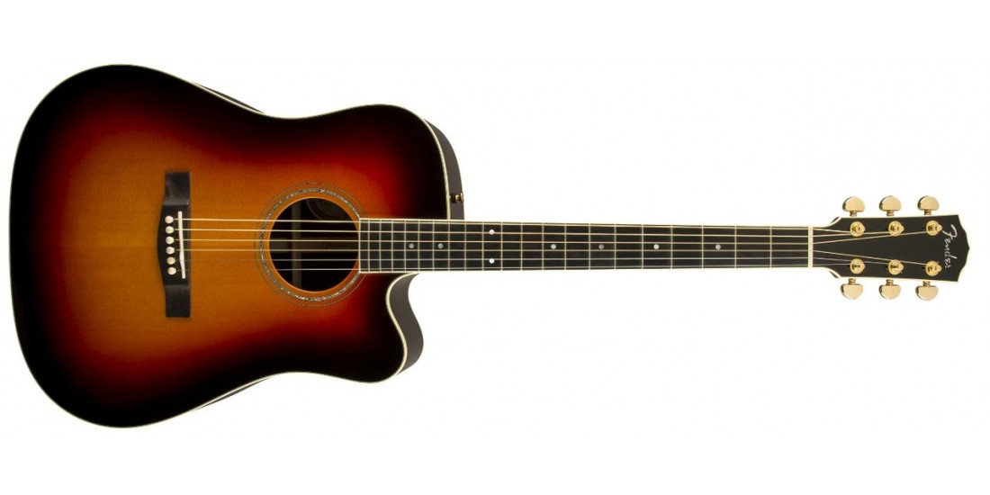 Fender USA Custom Shop Pro TPD-2CE All Solid Dreadnought Acoustic Electric Guitar Sunburst - B Stock