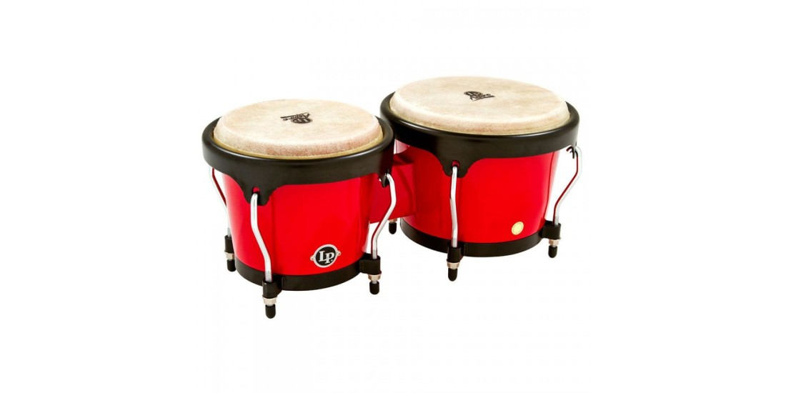 Lp Latin Percussion Aspire Fiberglass Bongos Red (6 3/4 and 8 inch)
