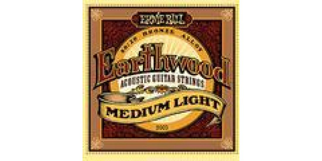 Ernie  Ball  2003  Acoustic  Guitar  Strings  Earthwood  Medium  Light