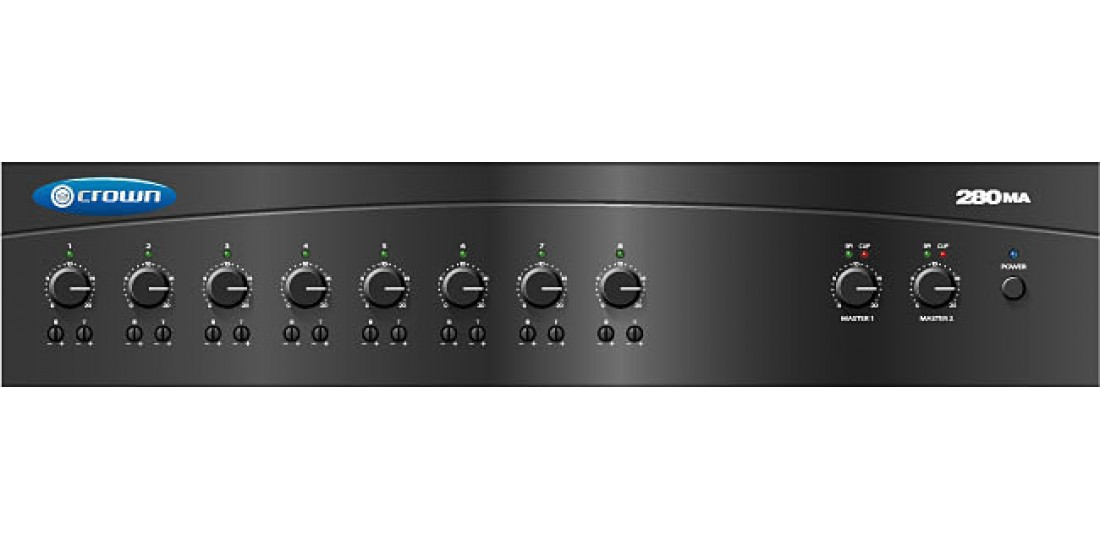 Crown 280MA 2 Zone Commercial Mixer Amplifier