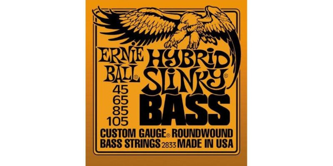 Ernie  Ball  2833  Bass  Hybrid  Slinky  Nickel  Round  Wound  (.045-.105)