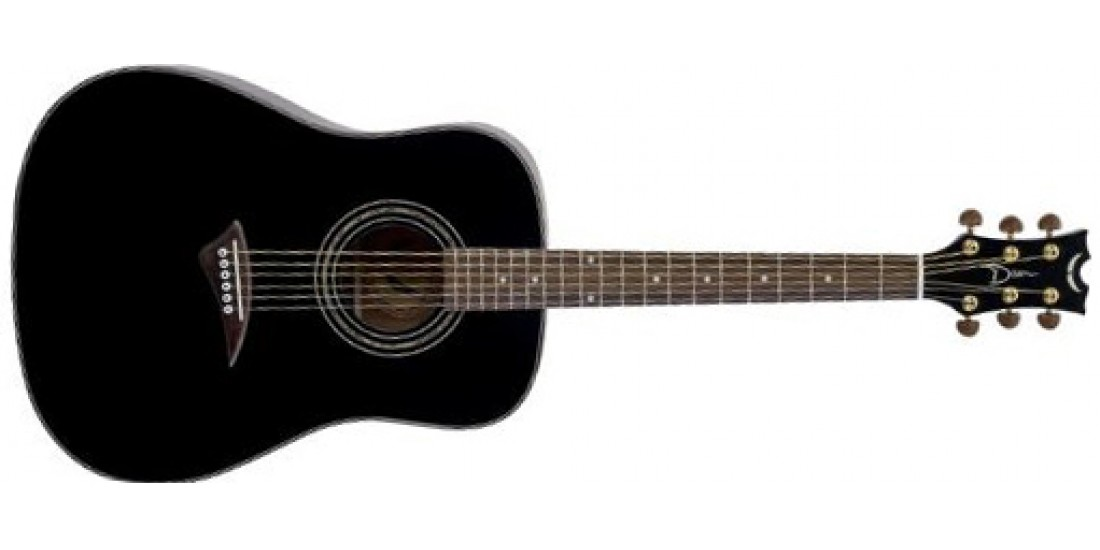 Dean TS2-CBK Tradition Solid Spruce Top Mahogany back and sides Acoustic guitar Classic Black