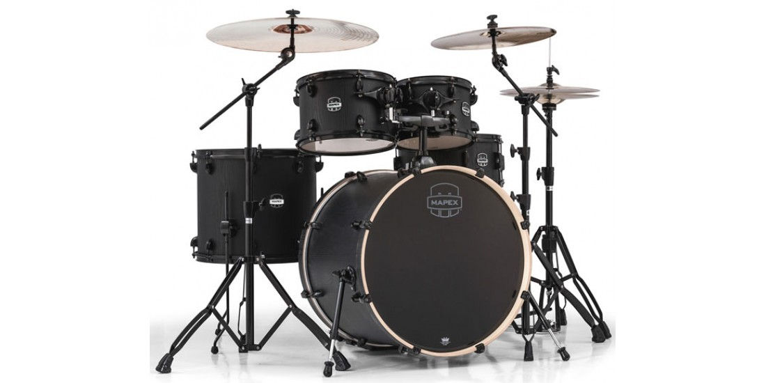 Mapex MA529SFBZW 5 Piece Mars Rock Shell Pack Nightwood Black Hardware