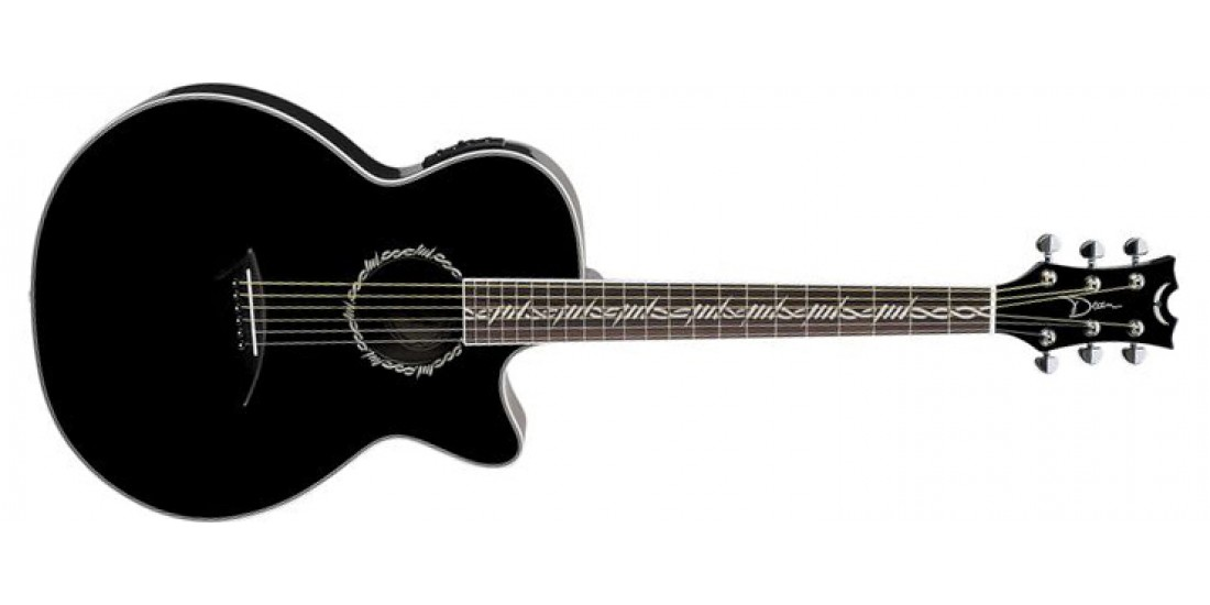 Dean Performer Acoustic Spruce Top Mahogany Back and Sides Trans Black