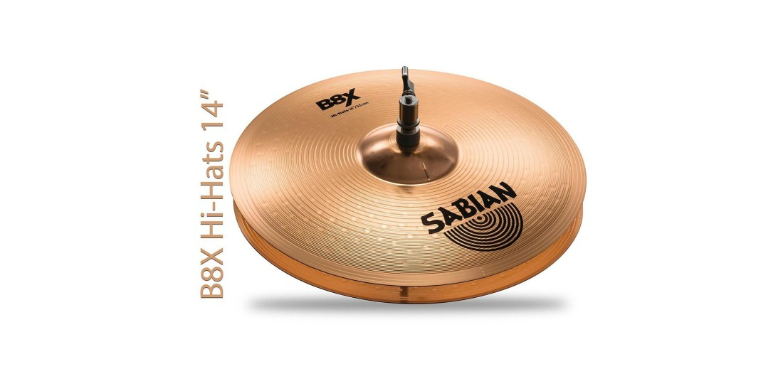 Sabian B8X Performance Set 14in Hats 16in Thin Crash 20in Ride Cymbals