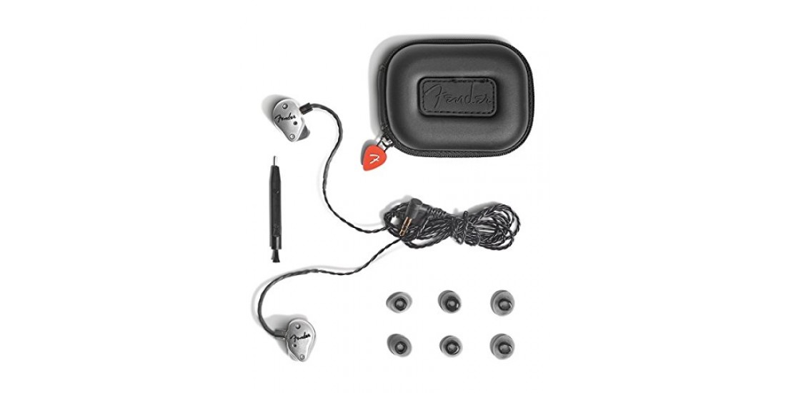 Fender  FXA5  Pro  In  Ear  Monitor  Ear  Buds  Silver