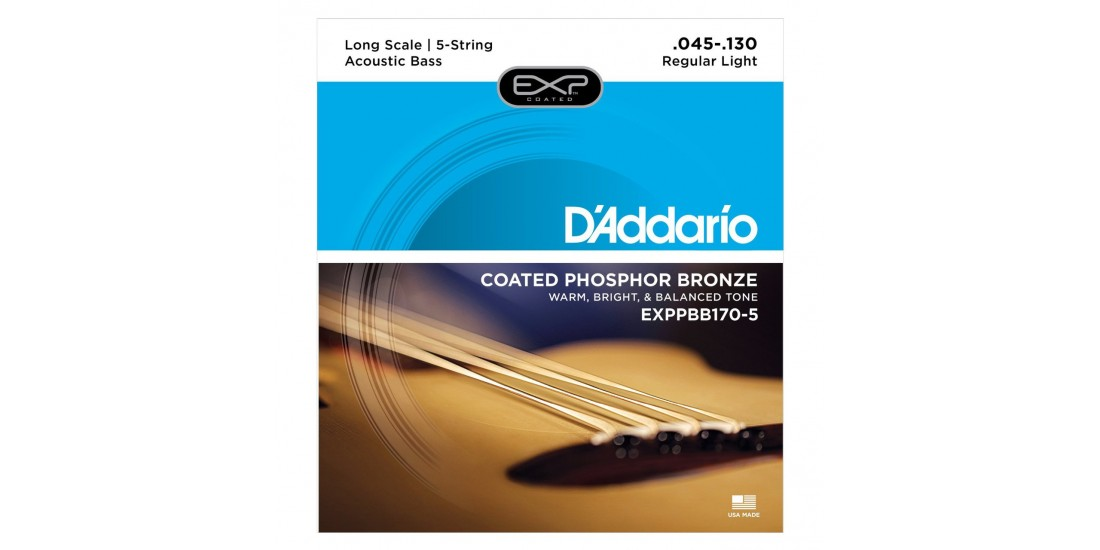 D Addario EXP Coated Acoustic Bass 5 String Set (.045-.130)