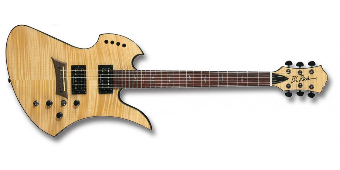 BC Rich MGPOLDLXN Mockingbird Polarity Deluxe Electric Guitar Gloss Natural with Duncan Designed pickups