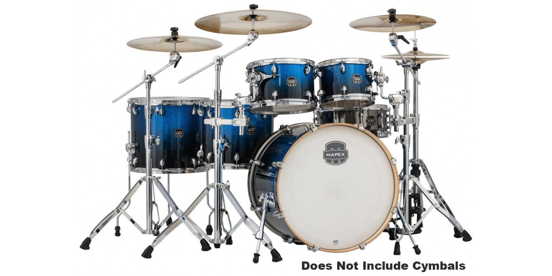 Mapex AR628SFUBI 6 Piece Armory Studioease Fast Shell Pack Photon Blue