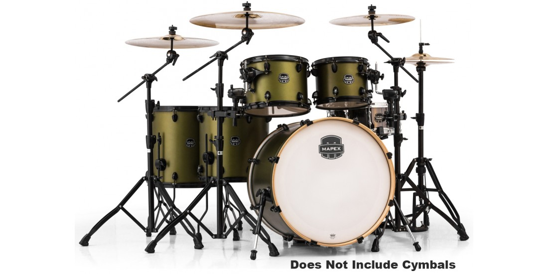 Mapex  AR628SFUGM  6  Piece  Armory  Studioease  Fast  Shell  Pack  Mantis  Green