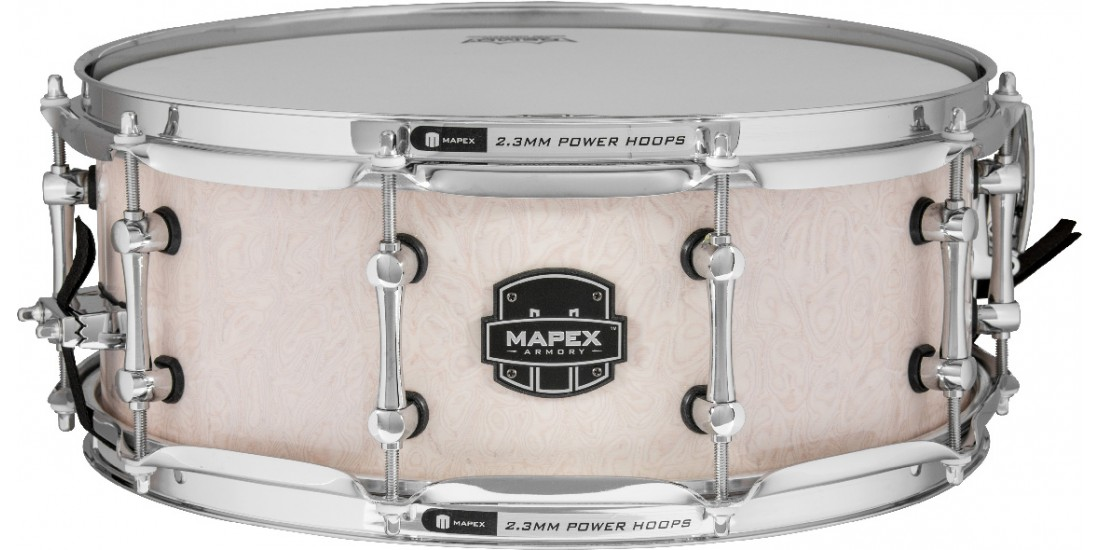 Mapex ARMW4550KCAI Armory Series Peacemaker Snare Drum 6.15mm Maple and Walnut - 14x5.5