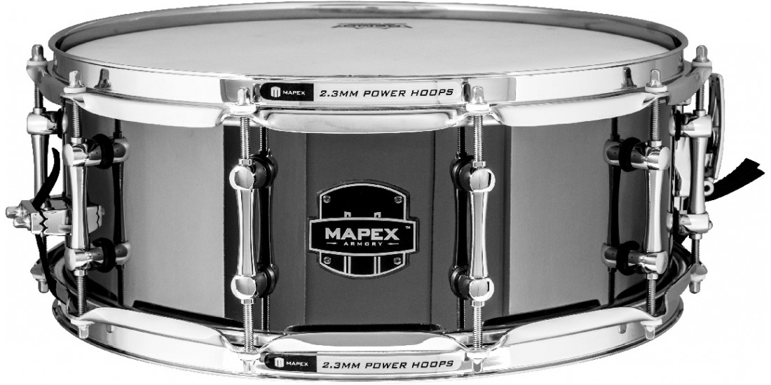 Mapex ARST4551CEB Armory Series Tomahawk Snare Drum 1.0mm Stainless Steel Shell - 14x5.5