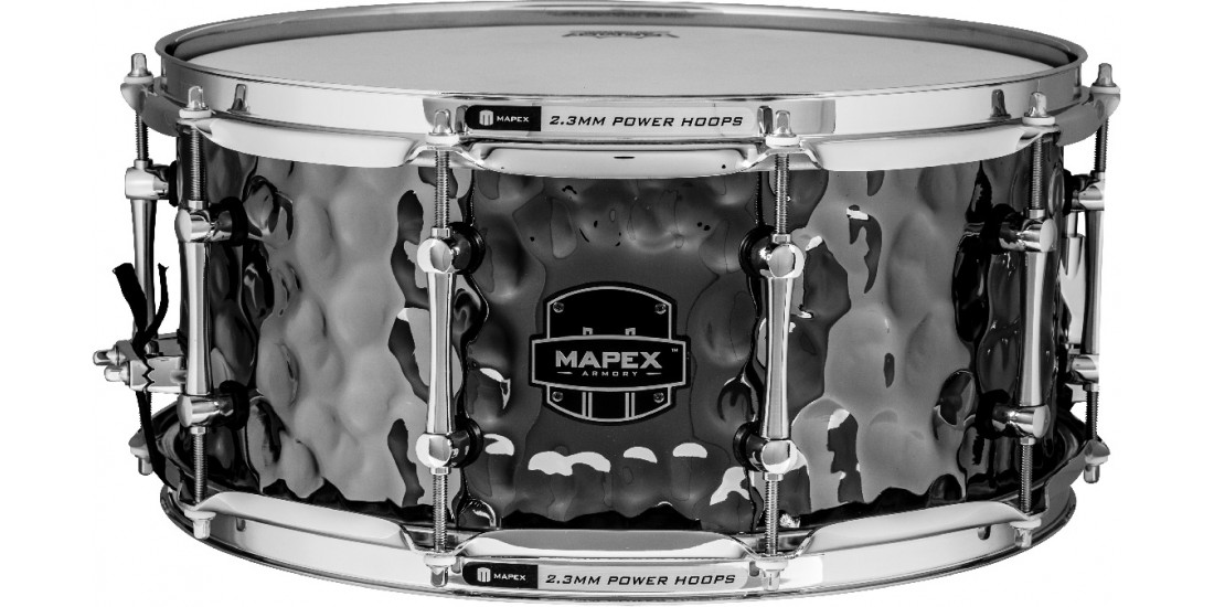 Mapex ARST465HCEB Armory Series Daisy Cutter Snare Drum 1.0mm Hammered Steel - 14x6.5