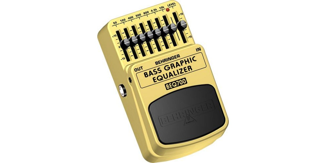 Behringer BEQ700 Bass Guitar 7 Band Graphic Equalizer Effects Pedal