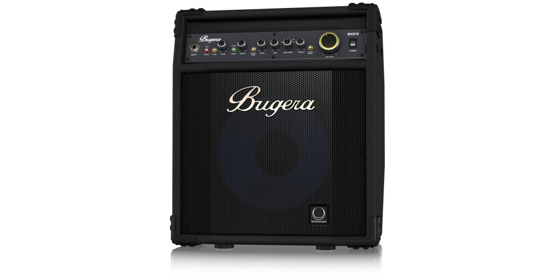 Bugera BXD12A 1000 Watt 2 Channel Bass Amplifier with 12 Turbosound Aluminum Cone Speaker FBQ Spectrum Analyzer Compressor