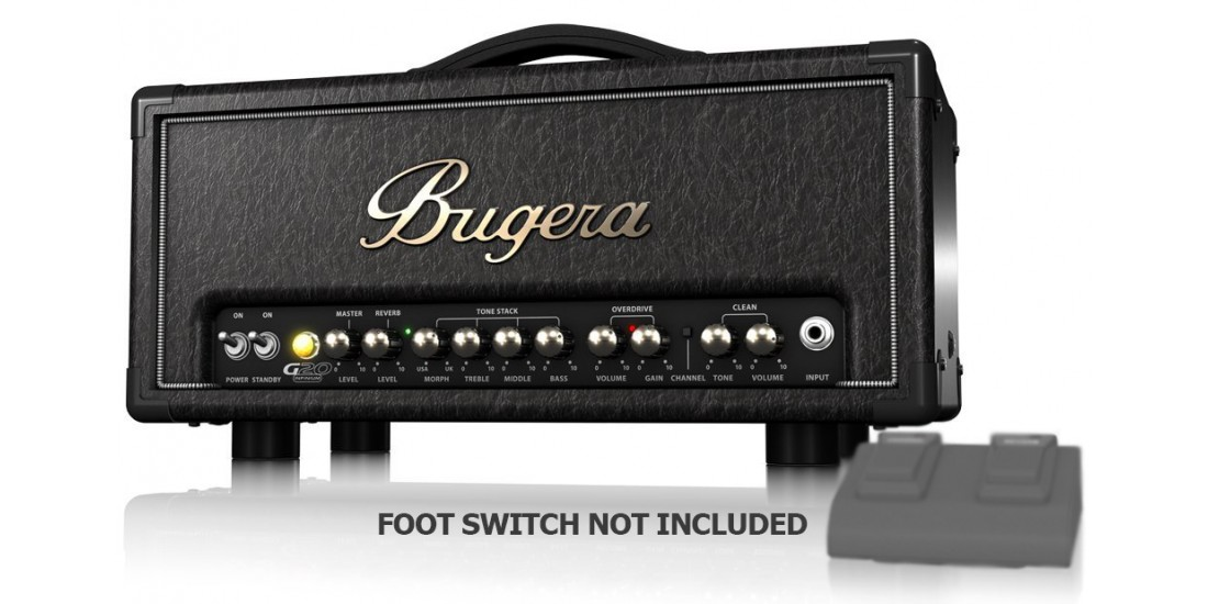 Bugera G20 Infinium 20 Watt Class-A Tube Amplifier Head with INFINIUM Tube Life Multiplier MORPH EQ and Reverb