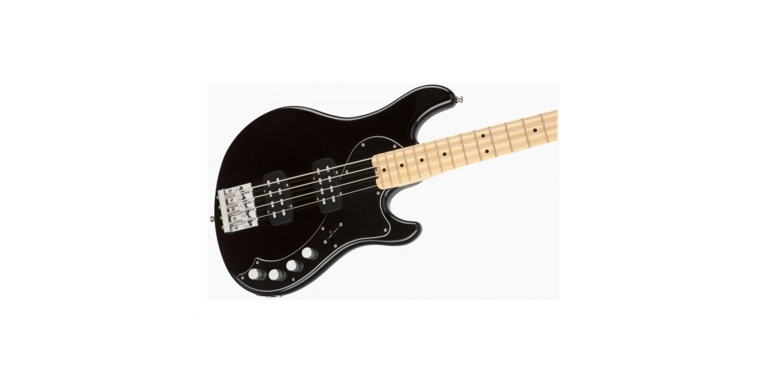 Open Box - Fender American Elite Dimension Bass IV Humbucking Pick Ups Maple Fingerboard Black