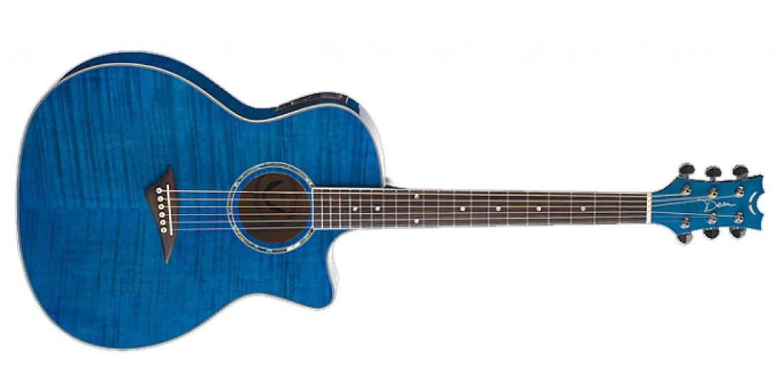 Dean EFM-TBL Exotica Acoustic Electric Flamed Maple Top Trans Blue B-Stock