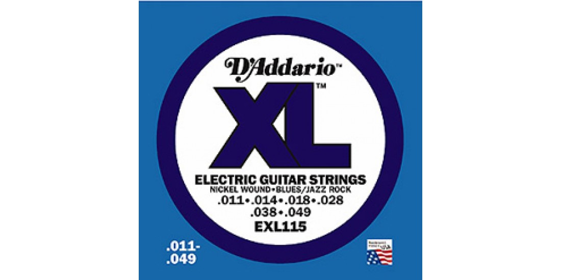 D Addario EXL115 Electric Guitar Strings Xl Series (.011-.049)