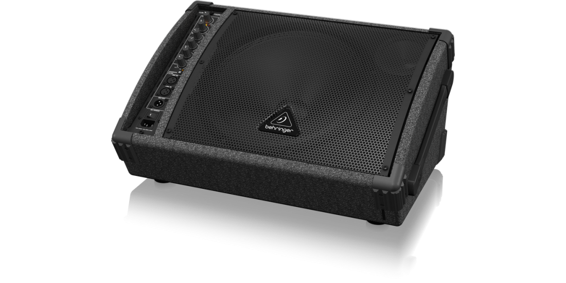 Behringer Bi-Amped 250-Watt Monitor Speaker System with 12 inch Woofer 1 inch Compression Driver and Feedback Filter
