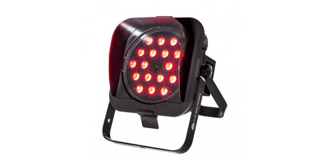 American  DJ  Flat  Par  Tri18XS  Ultra  bright  low  profile  DMX  LED  par  18  x  3  watt  RGB  LED    NEW  MODEL  Snoot  Included
