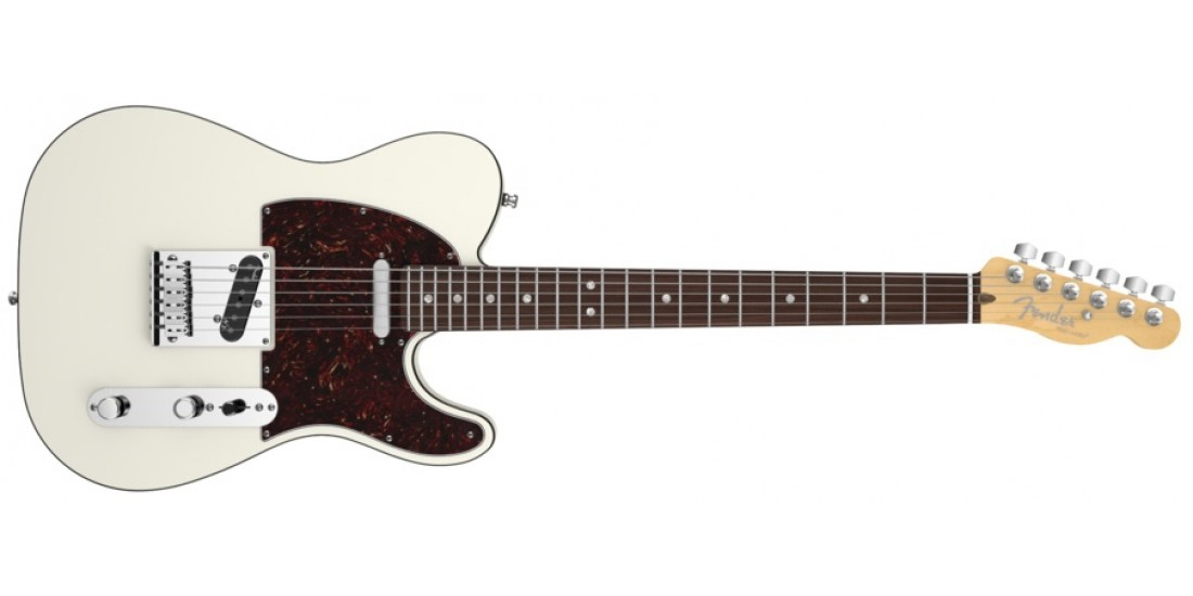 Fender American Deluxe Telecaster Electric Guitar Olympic White