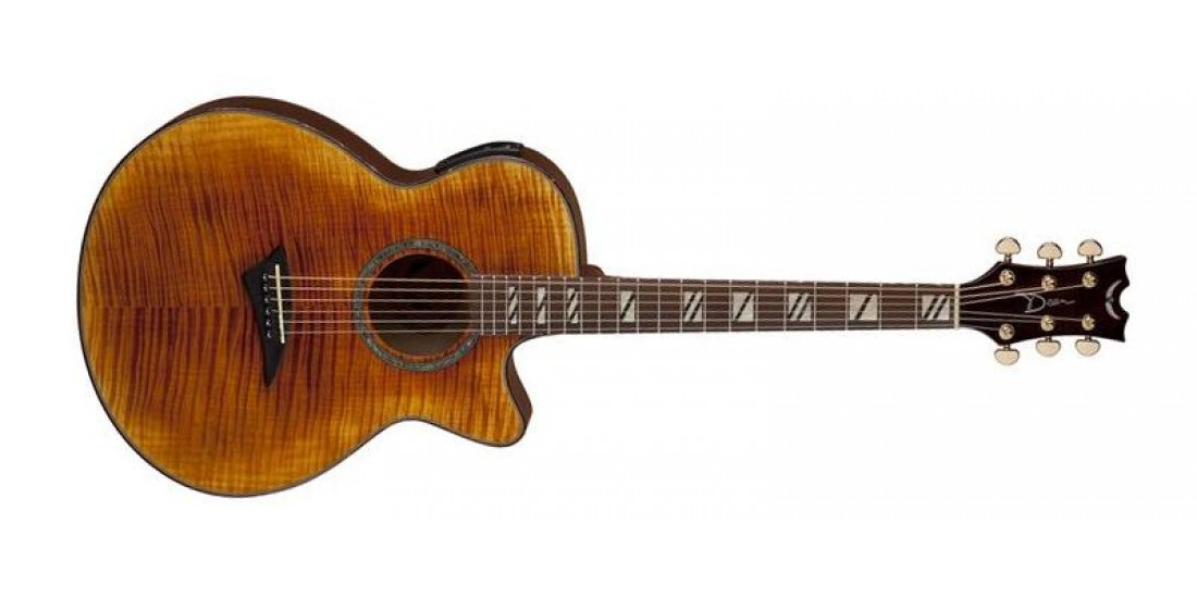 Dean PE-FM-FTGE Performer Ultra Acoustic Electric Flame Maple Top Flame Maple Back and Sides Tiger Eye