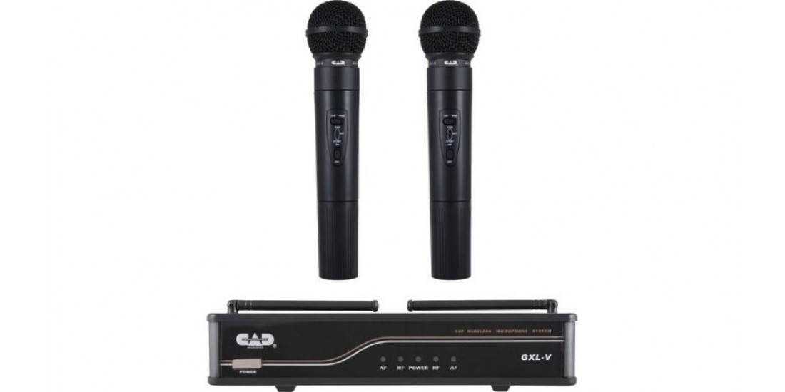 CAD  Audio  GXLVHHJ  VHF  Wireless  Dual  Mic  System