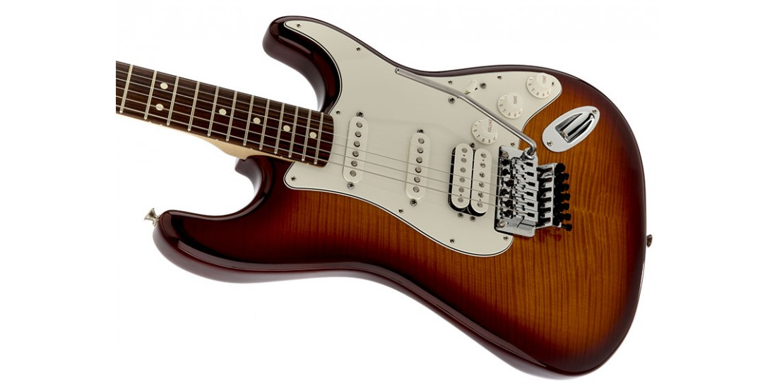 Fender Standard Stratocaster Plus Top Floyd Rose Trem Tobacco Burst