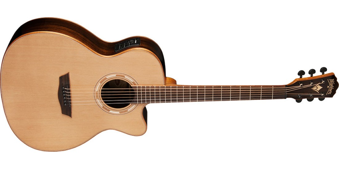 Washburn WLG26SCE Woodline Solid Cedar Top Rosewood Back and Sides Grand Auditorium Acoustic Electric Guitar