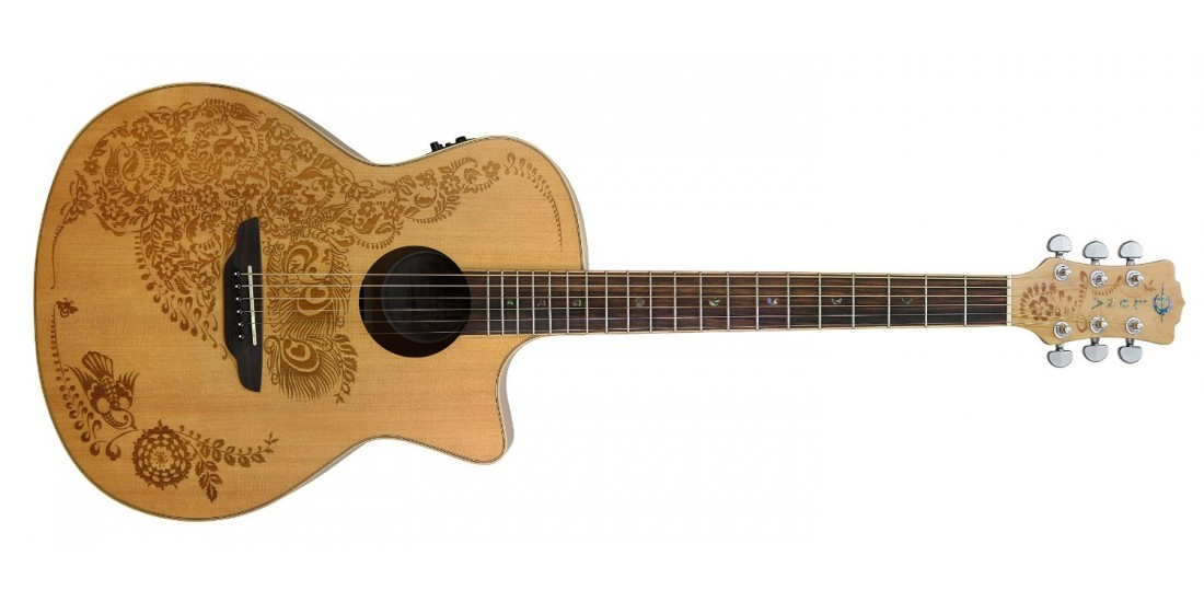 Luna Henna Oasis Spruce Acoustic Electric Guitar