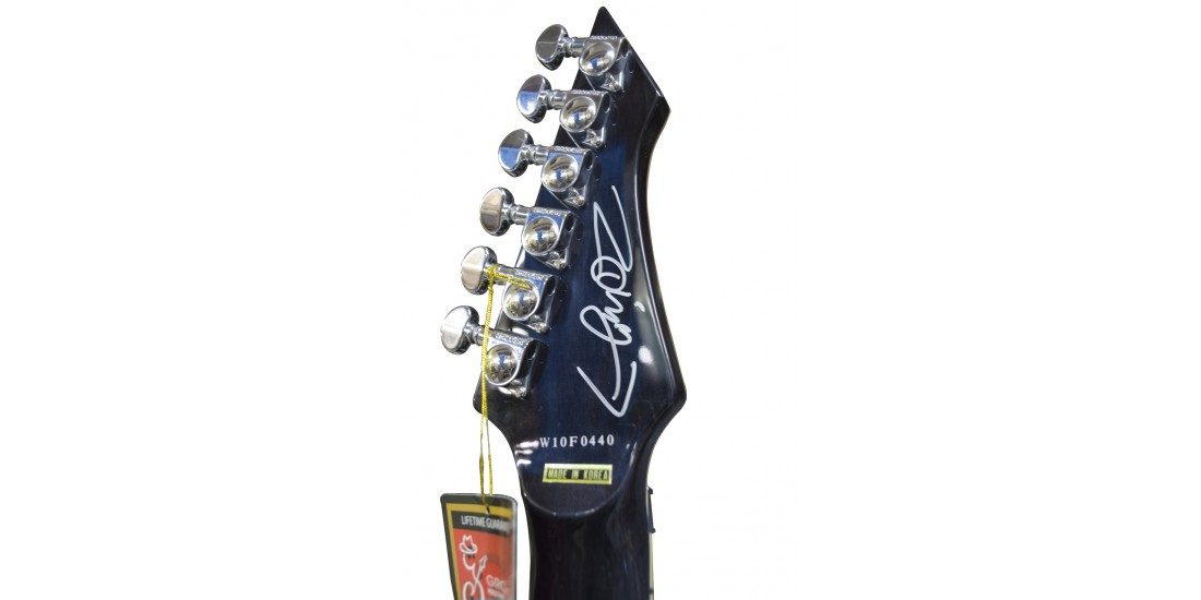 DBZ Diamond Halcyon ZB-FR Zoltan Bathory Signature Series Black Moonrise Guitar Flame Maple Top Autographed with Case